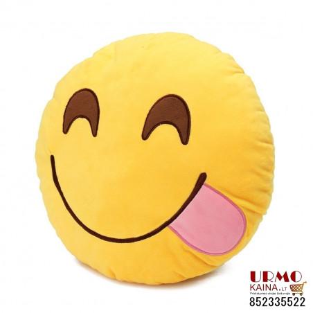 """Emoji pagalvė """"Happy tongue"""""""