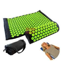 Akupresūros masažinio kilimėlio ir pagalvėlės rinkinys