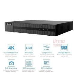 Vaizdo įrašymo įrenginys HiLook NVR-104MH-C/4P