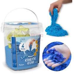 Mėlynos spalvotas kinetinis smėlis 500 g