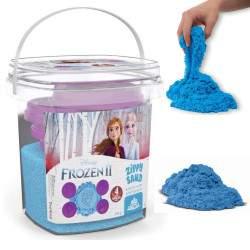 """Mėlynos spalvotas kinetinis smėlis """"Frozen"""" 350 g"""