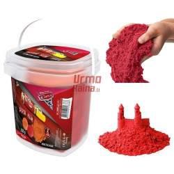 """Raudonos spalvotas kinetinis smėlis """"Makvynas"""" 350 g"""