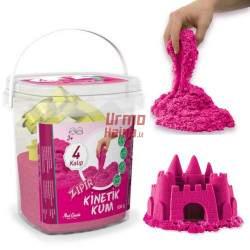 Rožinės spalvos kinetinis smėlis 500 g