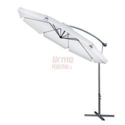 Lauko skėtis Malatec, 300 cm, šviesiai pilkas