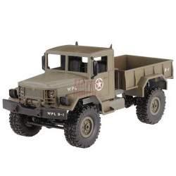 RC mašinėlė su pultu Army Truck WPL B-14 1:16