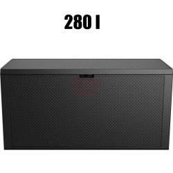 Sodo dežė Emily storage box 280 l juoda
