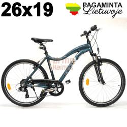 Kalnų dviratis 26 x 19, T07, Night Blue