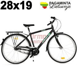 """Miesto dviratis 28x19"""", R48, Arrant black"""