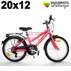 Vaikiškas dviratis 20 x 12, Hibiscus Red