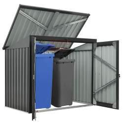 Metalinė stoginė su užraktu - Šiukšlių konteinerių stoginė