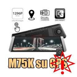 Vaizdo registratorius su galinio vaizdo kamera M75K    Prekė su defektu