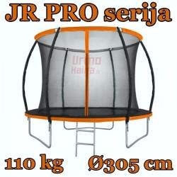 JR PRO serijos batutas su vidiniu tinklu ir kopėčiomis | 305 cm