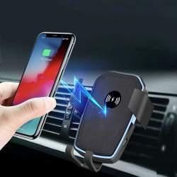 Automobilinis telefono laikiklis su bevieliu krovimu K18