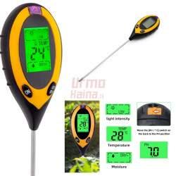 Dirvožemio pH ir drėgmės matuoklis 4in1 GEKO