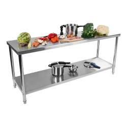 Nerūdijančio plieno stalas 200x60 cm