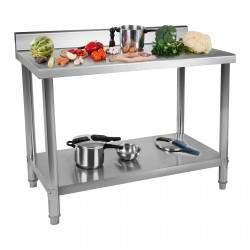 Nerūdijančio plieno darbo stalas - 100x60 cm RCWT-100X60SB