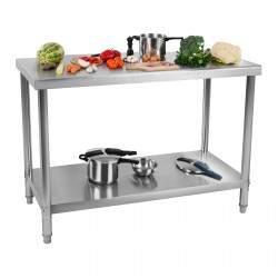 Nerūdijančio plieno darbo stalas 120x60 cm RCWT-120X60S
