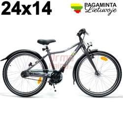 Vaikiškas dviratis 24 x 14, Shale grey