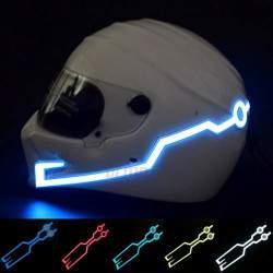 Led juosta motociklininko šalmui