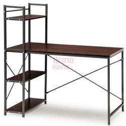 Kompiuterio stalas su lentynomis Loft 08