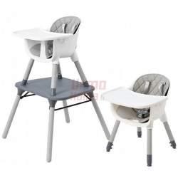 Maitinimo kėdutė H5 3in1, pilka