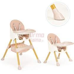 Maitinimo kėdutė H3S 2in1, rožinė