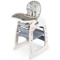 Maitinimo kėdutė C1 3in1, pilka