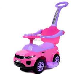 Paspiriamas vaikiškas automobilis FUNFIT KIDS 3IN1 rožinis