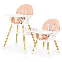 Maitinimo kėdutė H4 2in1, rožinė