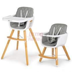 Maitinimo kėdutė C2 2in1, pilka