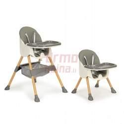 Maitinimo kėdutė H3S 2in1, pilka