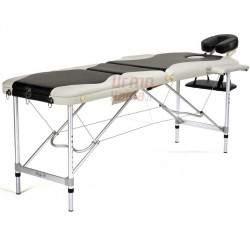 Masažinis stalas BodyFit 038 ALU juodas
