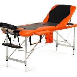 Masažinis stalas BodyFit 037 ALU oranžinis