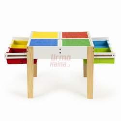 Žaidimų stalas + 2 kėdės X2