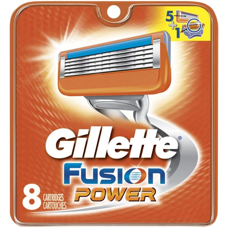 Gillette Fusion POWER skutimosi peiliukai 8 vnt