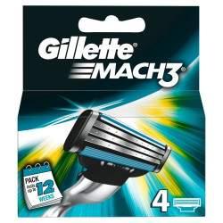 Gillette Mach 3 skutimosi peiliukai 4 vnt