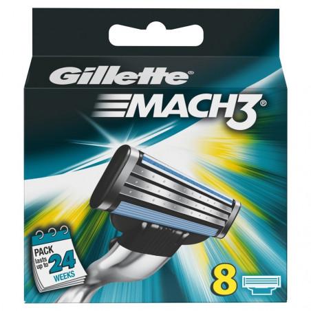 Gillette Mach 3 skutimosi peiliukai 8 vnt