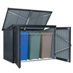 Metalinė stoginė su užraktu - Šiukšlių konteinerių stoginė XL
