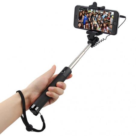 Asmenukių teleskopinė lazda su laidu S5   Selfie lazda