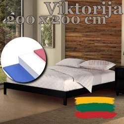 """Čiužinys """"Viktorija"""" 200x200 cm (Aukštis: 21 cm, Kietumas: Vidutinis/Kietas)"""
