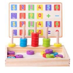 Medinis mokomasis žaislas Skaičiai Montessori