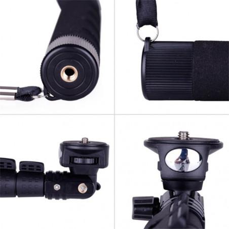 Profesionali Bluetooth asmenukių teleskopinė lazda B4 su Bluetooth pulteliu