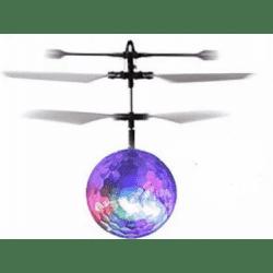 Skraidantis LED kamuoliukas valdomas delno pagalba