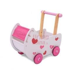 Medinis vežimėlis lėlėms Pink Dream