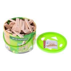 Medinės kaladėlės Montessori