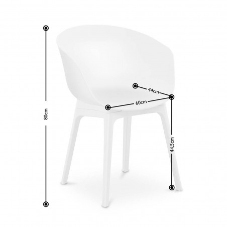 Kėdės, baltos 60x44 cm STAR-SEAT-12