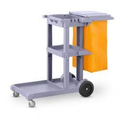 Valymo vežimėlis su skalbinių maišeliu ir dangčiu UNICLEAN 6