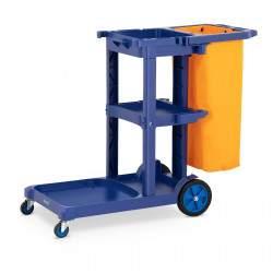 Valymo vežimėlis su skalbinių maišeliu UNICLEAN 12