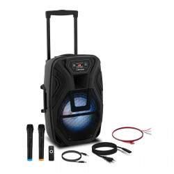 Nešiojama PA sistema - 2 mikrofonai - 40 W CON.PAS12-01