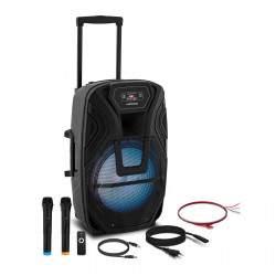 Nešiojama PA sistema - 2 mikrofonai - 50 W CON.PAS15-01
